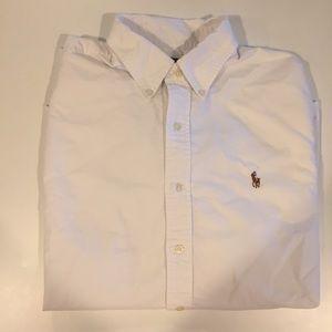 Ralph Lauren White Button Down Long Sleeve Shirt